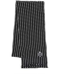 Dolce & Gabbana Polka Dot Silk Georgette Scarf black - Lyst