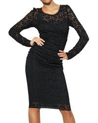 Dolce & Gabbana Silk Viscose Stretch Lace Dress - Lyst