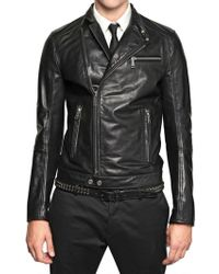 DSquared2 Chiodo Leather Jacket - Lyst
