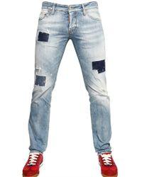 DSquared² 19cm Denim Patch Slim Fit Jeans - Lyst
