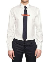 DSquared2 Neon Orange Tie Clip Cotton Poplin Shirt - Lyst