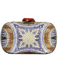 Etro Manisha Mosaic Printed Leather Clutch - Lyst