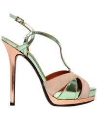 Fendi Twisted Calfskin Sandals - Lyst