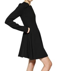 Gareth Pugh Light Wool Crepe Dress Coat black - Lyst