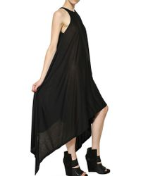 Gareth Pugh Long Jersey Dress - Lyst
