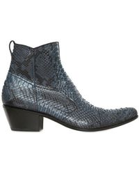 Gianni Barbato - Python Low Boots - Lyst