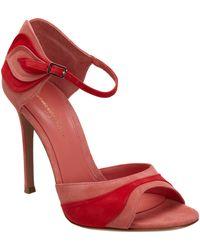 Gianvito Rossi Stylized Twotone Sandal - Lyst