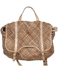 Giorgio Brato - Woven Washed Leather Messenger Bag - Lyst