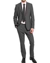 Givenchy Two Button Satin Piping Cool Wool Suit - Lyst