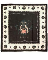Givenchy Rottweiler Print Silk Modal Scarf - Lyst