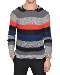 Iceberg Multicolor Cotton Knit Sweater - Lyst