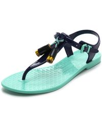 Juicy Couture Jelly Thong Sandals - Lyst