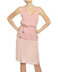 Lanvin Techno Muslin Bamboo Jersey Dress - Lyst