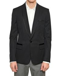 Maison Martin Margiela Slim Herringbone Cotton Tuxedo Jacket - Lyst