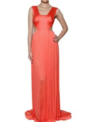 Maria Lucia Hohan Front Drape Silk Tulle Dress - Lyst