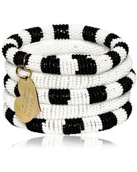 Boutique Moschino - Two Tone Resin Pearls Five Bracelets Set - Lyst