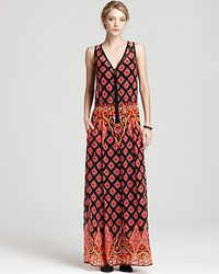 Nanette Lepore Maxi Dress Electrifying Printed orange - Lyst