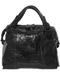 Pauric Sweeney - Overnight Shiny Textured Leather Bag - Lyst