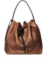 Pauric Sweeney - Drawstring Box Laminated Leather Bag - Lyst