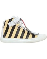 Pierre Hardy Limited Edition Stripey Leather Sneakers - Lyst