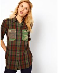 Ralph Lauren Camo and Plaid Mix Shirt - Lyst