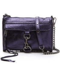 Rebecca Minkoff Metallic Mini Mac Bag - Lyst