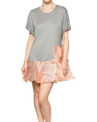 RED Valentino Silk Tulle Ribbon Stretch Jersey Dress pink - Lyst