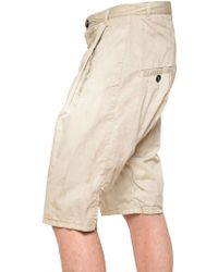 Silent - Damir Doma - Cotton Poplin Front Pleated Shorts - Lyst