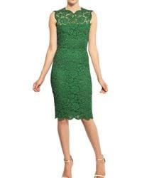 Valentino Cotton Viscose Lace Dress green - Lyst