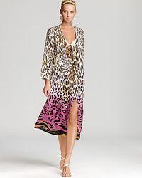 Ash - Echo Washable Silk Animal Print Caftan Swimsuit Coverup - Lyst