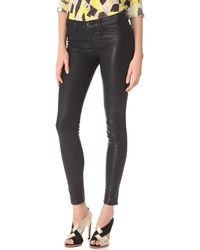 J Brand 901 Super Skinny Coated Textured Jeans - Lyst
