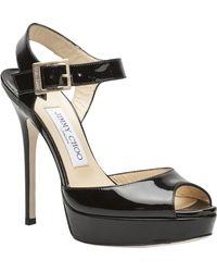 Jimmy Choo Linda Peep Toe Sandal - Lyst