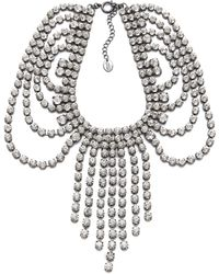 Juicy Couture - Rhinestone Fringe Necklace - Lyst