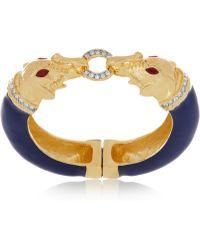 Kenneth Jay Lane 22karat Goldplated Crystal Bracelet - Lyst