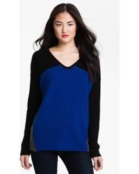 Only Mine Colorblock Cashmere Sweater - Lyst