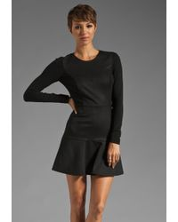 Theory Elite Nagida Long Sleeve Dress - Lyst