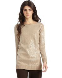 Alice + Olivia Sequined Knit Top - Lyst