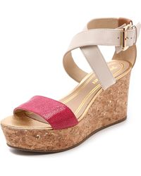 Juicy Couture - Forrest Cork Wedge Sandal Hot Pink - Lyst