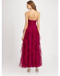 ML Monique Lhuillier Ruffled Gown - Lyst