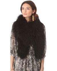 Rachel Zoe - Tubular Fur Scarf - Lyst