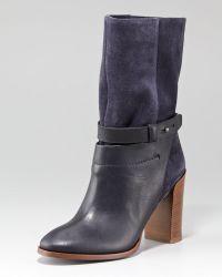 Vince Gwen Suede Short Ankle Boot black - Lyst