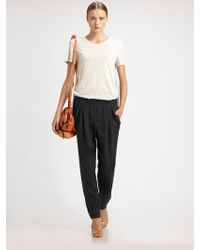 3.1 Phillip Lim Draped-Pocket Silk Trousers - Lyst