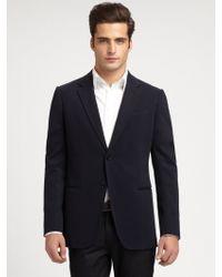 Armani Jersey Sportcoat blue - Lyst