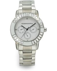 BCBGMAXAZRIA Stainless Steel Subdial Watch - Lyst