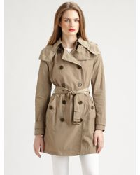 Burberry Brit Lightweight Hooded Trench Jacket - Lyst