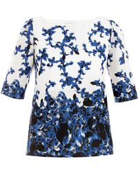 Erdem Arleen Venice Swirlprint Cotton Top - Lyst