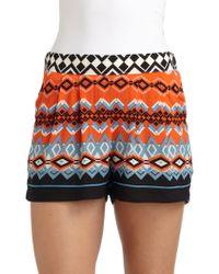 Sam & Lavi - Daisy Zig Zag Print Shorts - Lyst