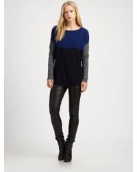 Vince Colorblock Wool Cashmere Sweater - Lyst