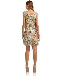Vivienne Tam - Silk Chiffon Floral Pleated Flapper Dress - Lyst