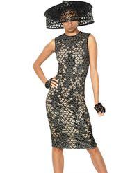 Alexander McQueen Lace Print On Viscose Jersey Dress - Lyst